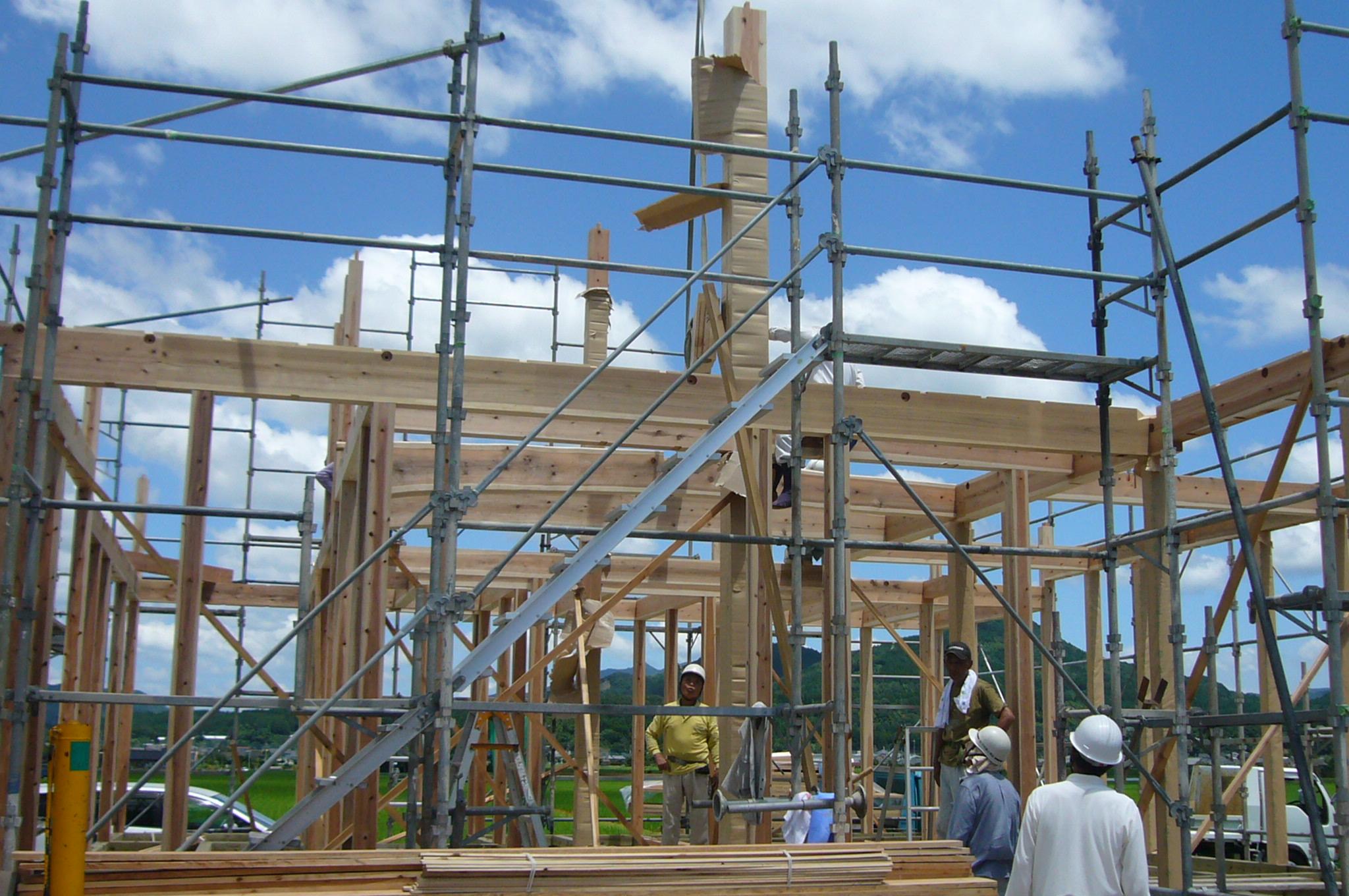 精致日本木结构住宅建造过程图解